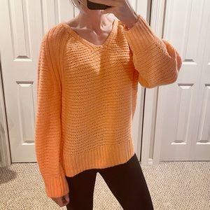 Universal Thread Neon Orange Oversized Sweater